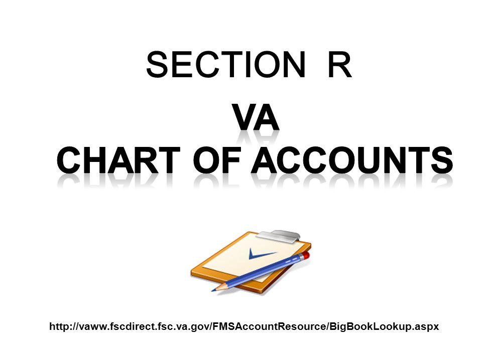SECTION R VA CHART OF ACCOUNTS