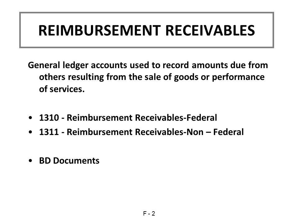 REIMBURSEMENT RECEIVABLES