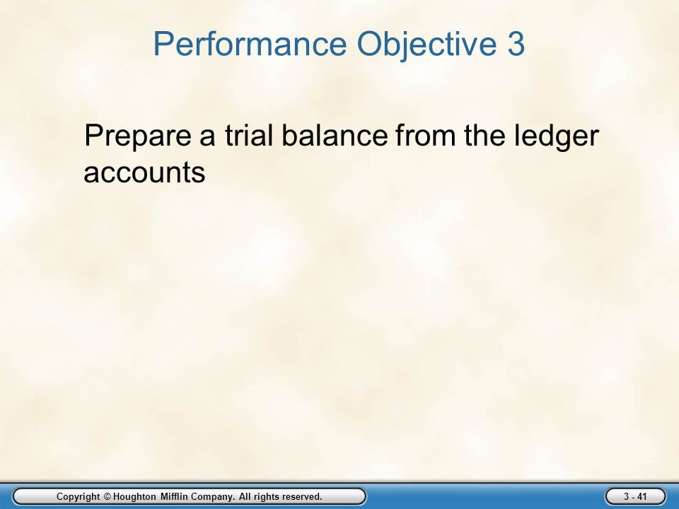 Performance Objective 3