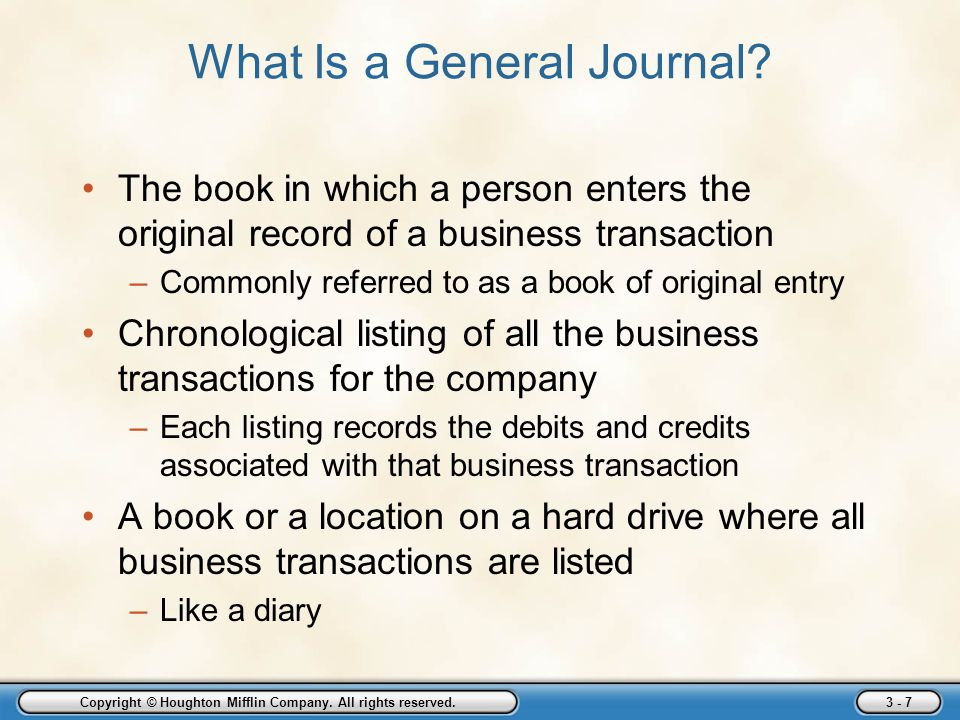 What Is a General Journal