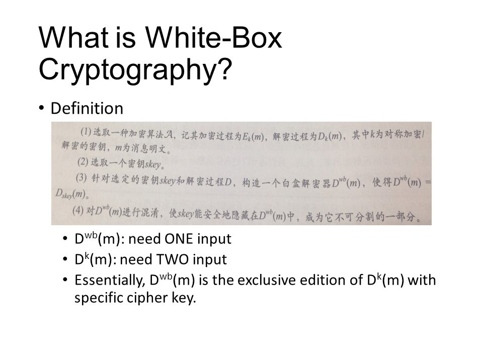 What is White-Box Cryptography