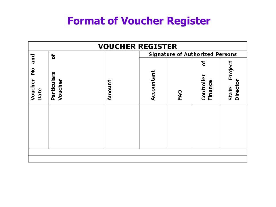 Format of Voucher Register