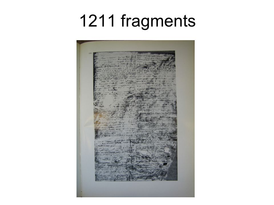 1211 fragments Transcribed by Pietro Santini 1887