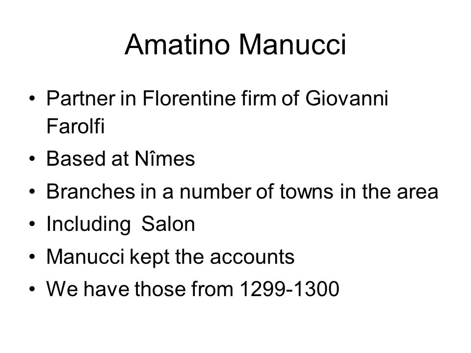 Amatino Manucci Partner in Florentine firm of Giovanni Farolfi
