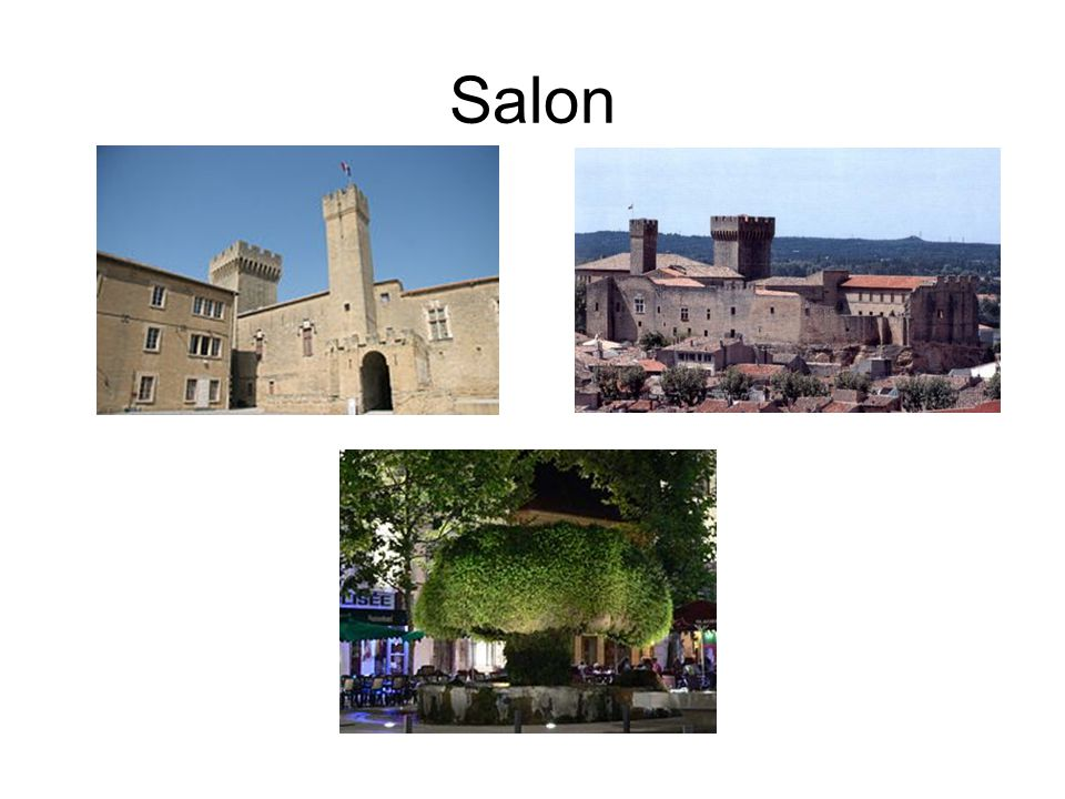 Salon As I say, based in Salon Market town