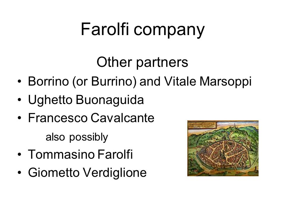 Farolfi company Other partners
