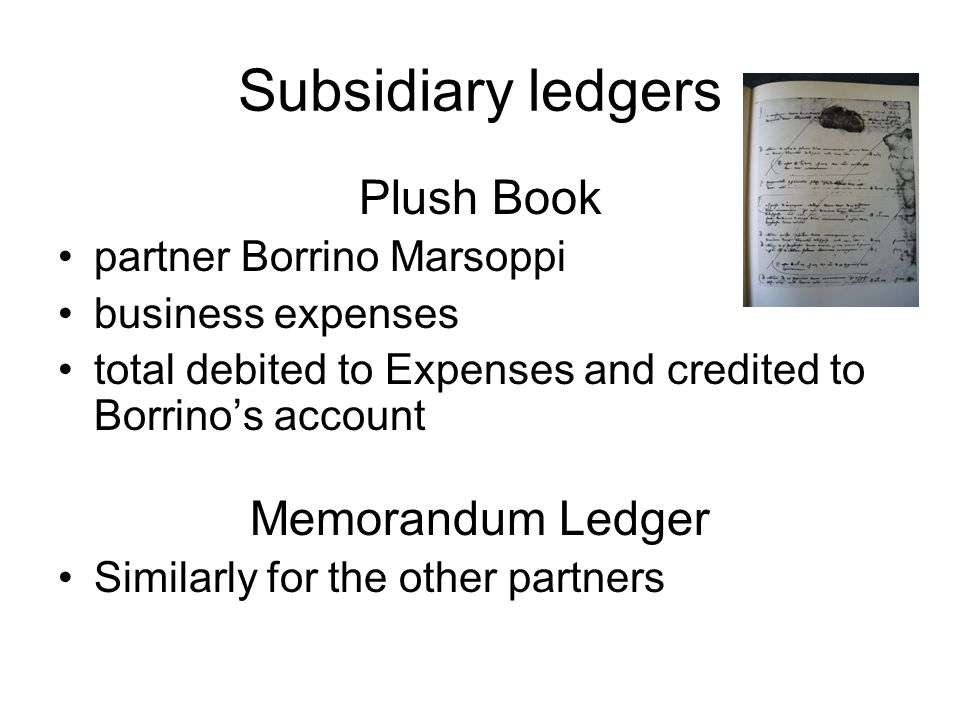 Subsidiary ledgers Plush Book Memorandum Ledger