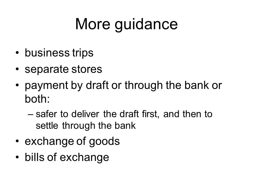 More guidance business trips separate stores