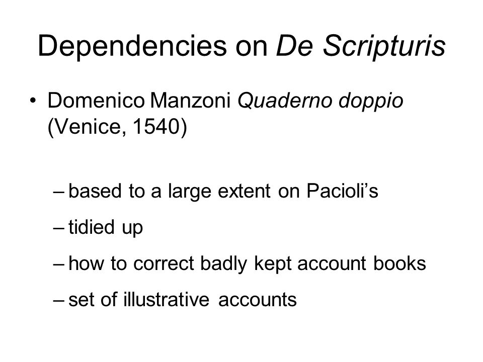 Dependencies on De Scripturis