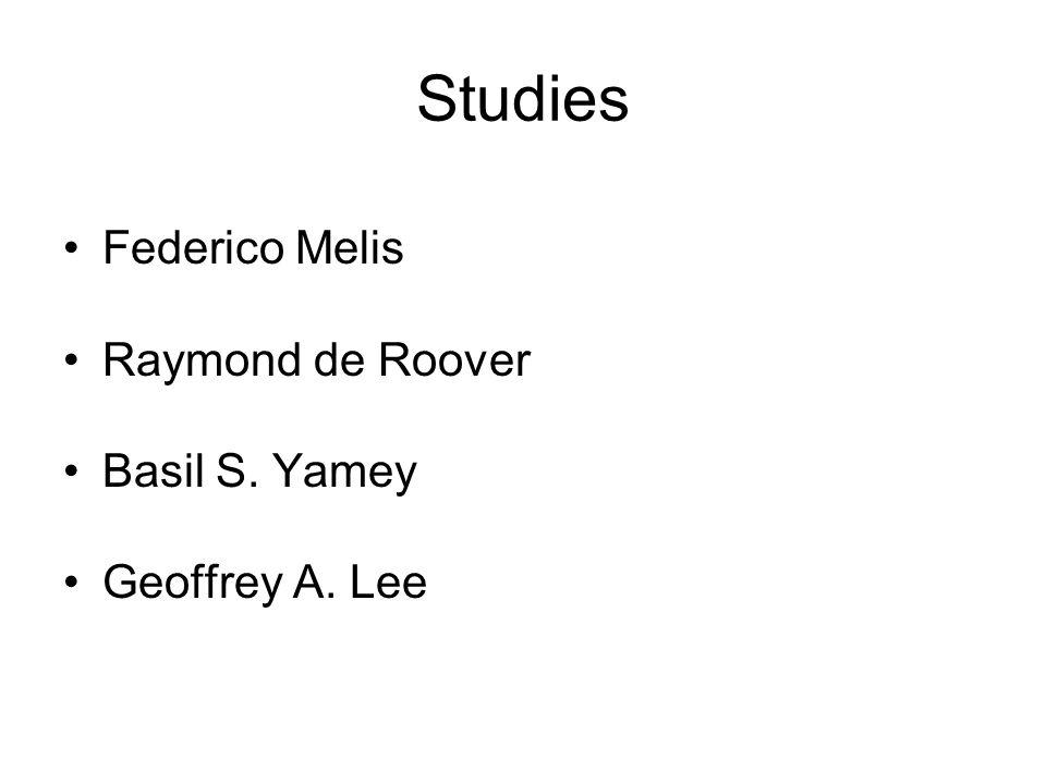 Studies Federico Melis Raymond de Roover Basil S. Yamey