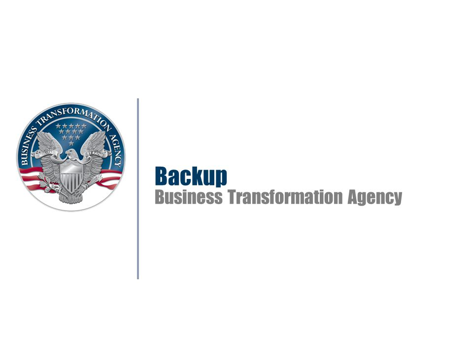 Backup Business Transformation Agency