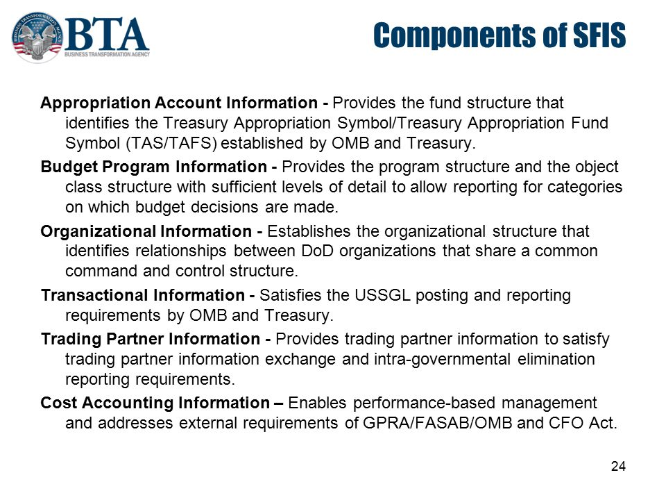 Components of SFIS