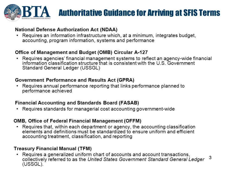 Authoritative Guidance for Arriving at SFIS Terms