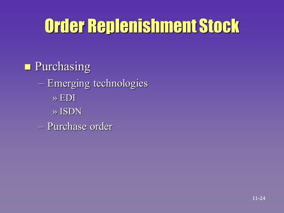 Order Replenishment Stock