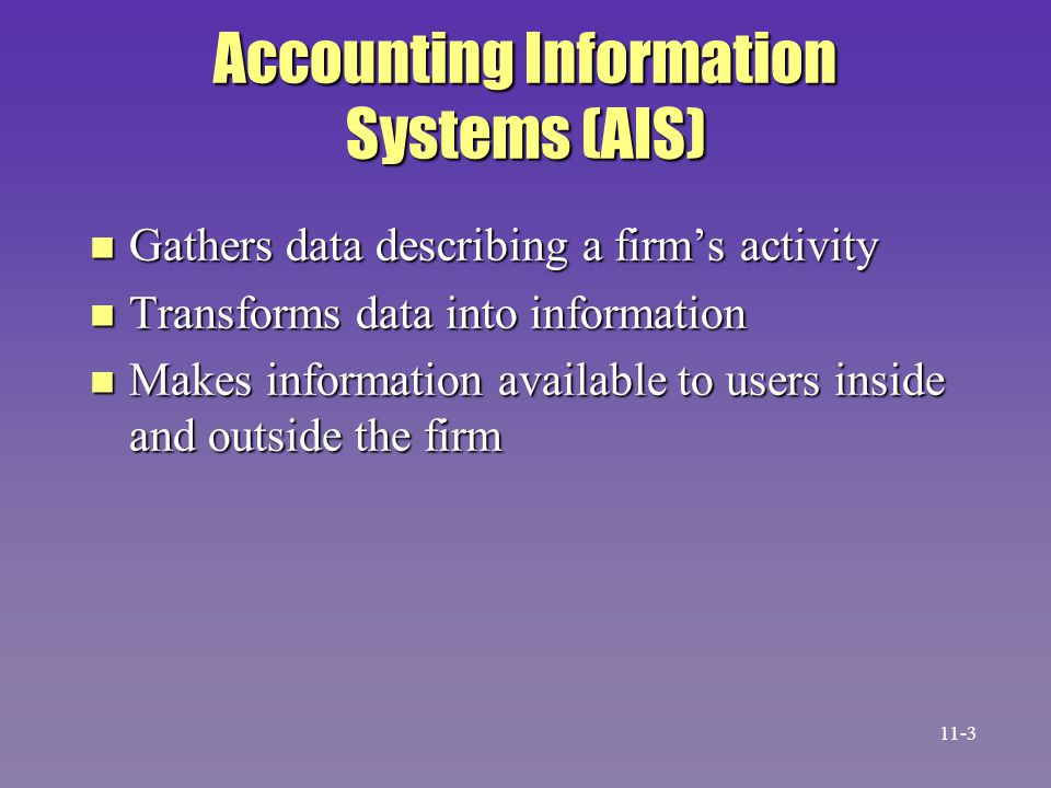 Accounting Information Systems (AIS)
