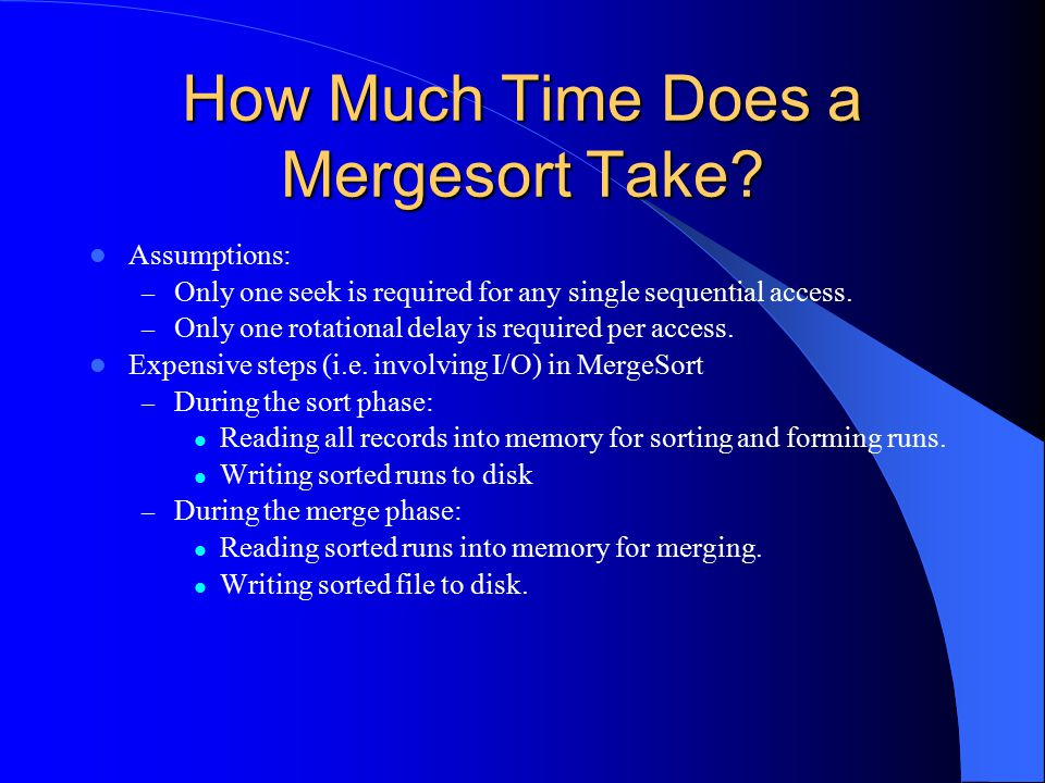 How Much Time Does a Mergesort Take