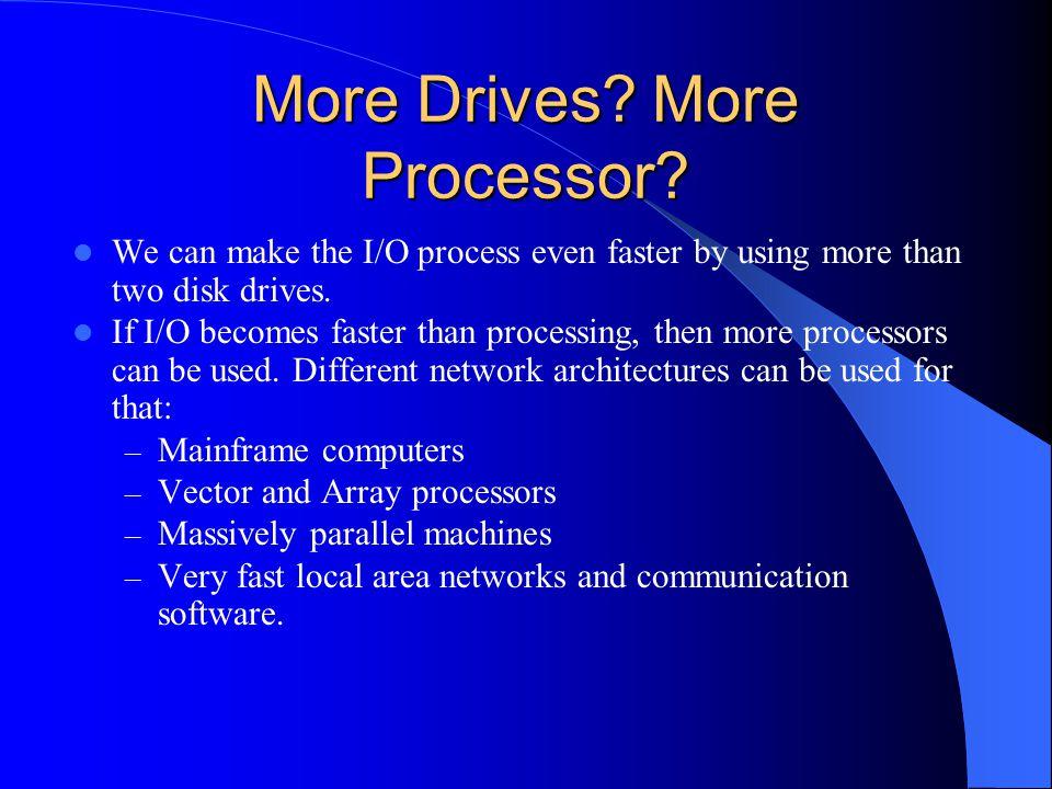 More Drives More Processor