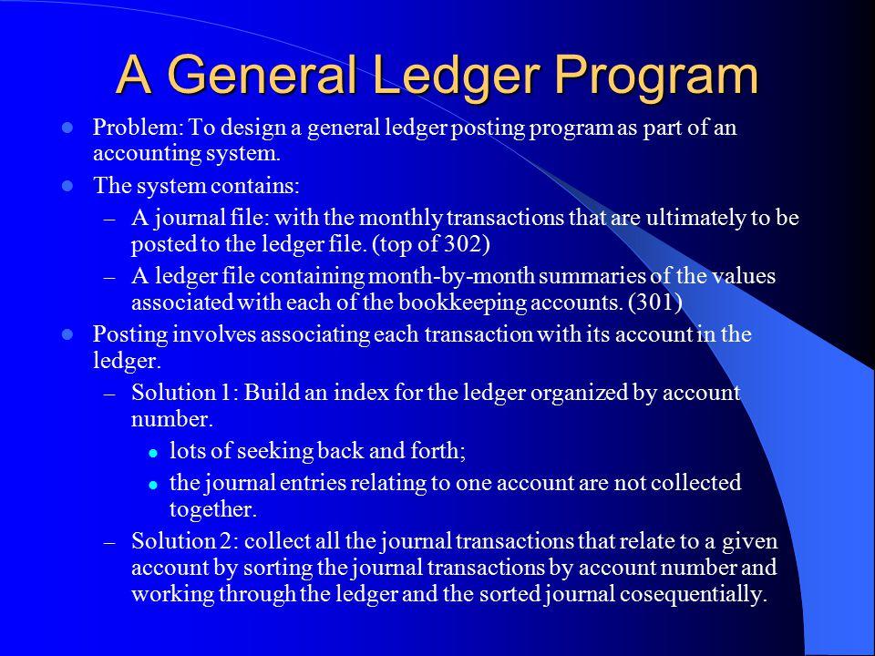 A General Ledger Program
