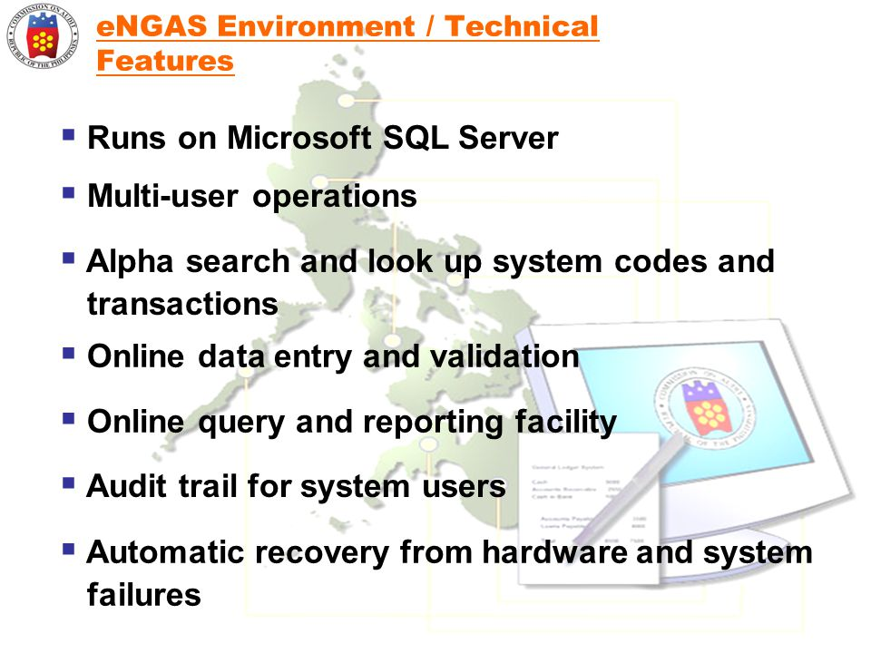 eNGAS Environment / Technical Features