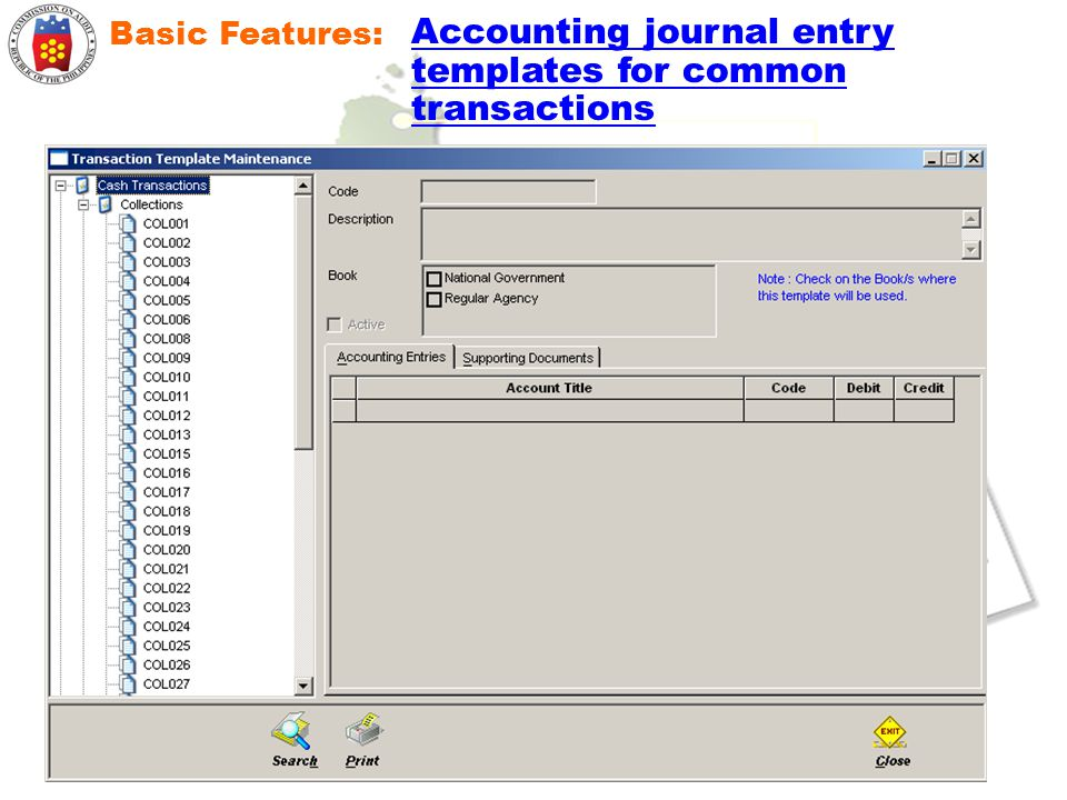 Accounting journal entry templates for common transactions