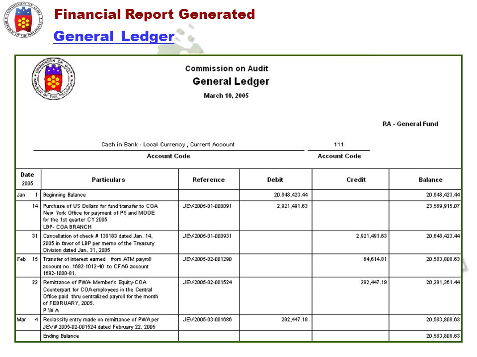 Financial Report Generated