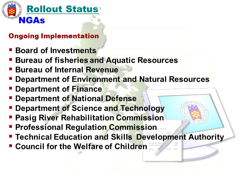Rollout Status NGAs Board of Investments