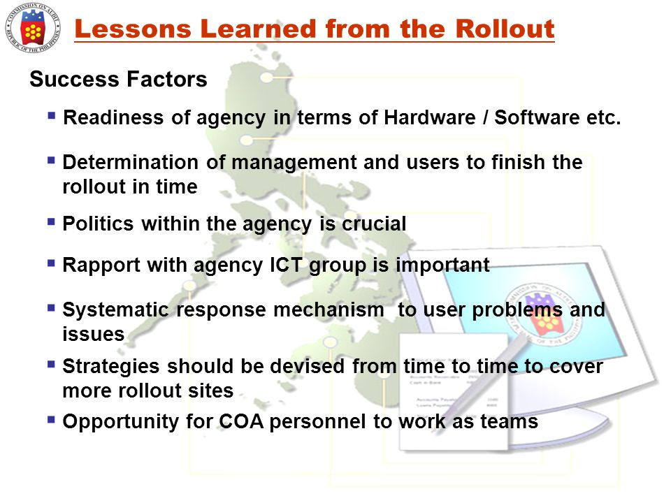 Lessons Learned from the Rollout