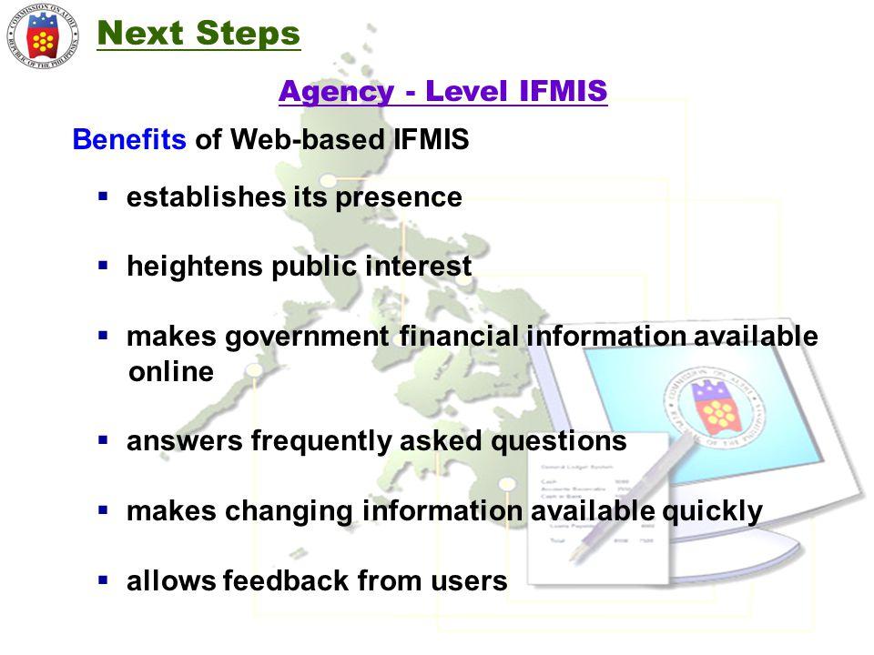 Benefits of Web-based IFMIS