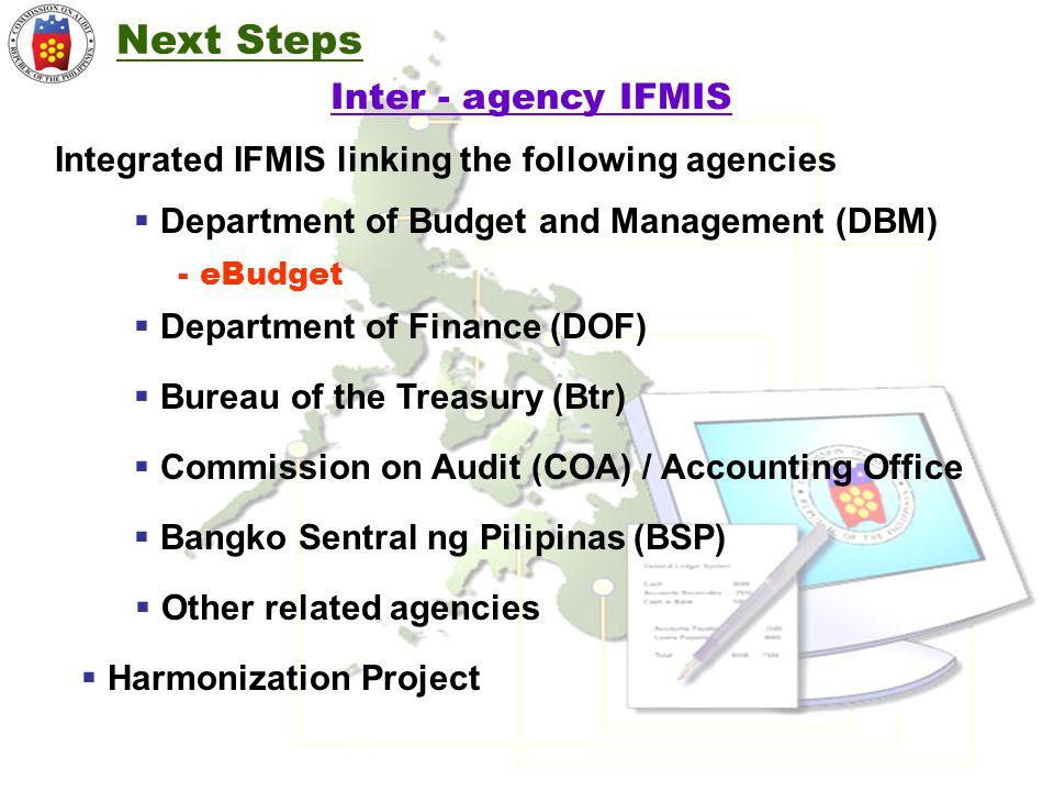 Next Steps Inter - agency IFMIS