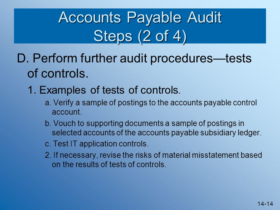 Accounts Payable Audit Steps (2 of 4)