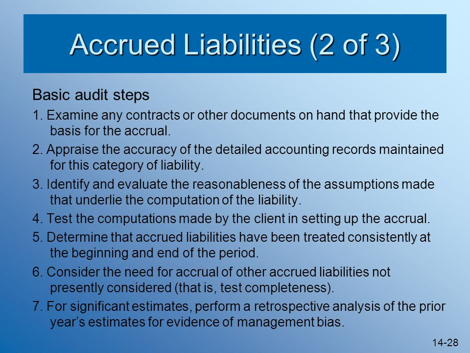 Accrued Liabilities (2 of 3)