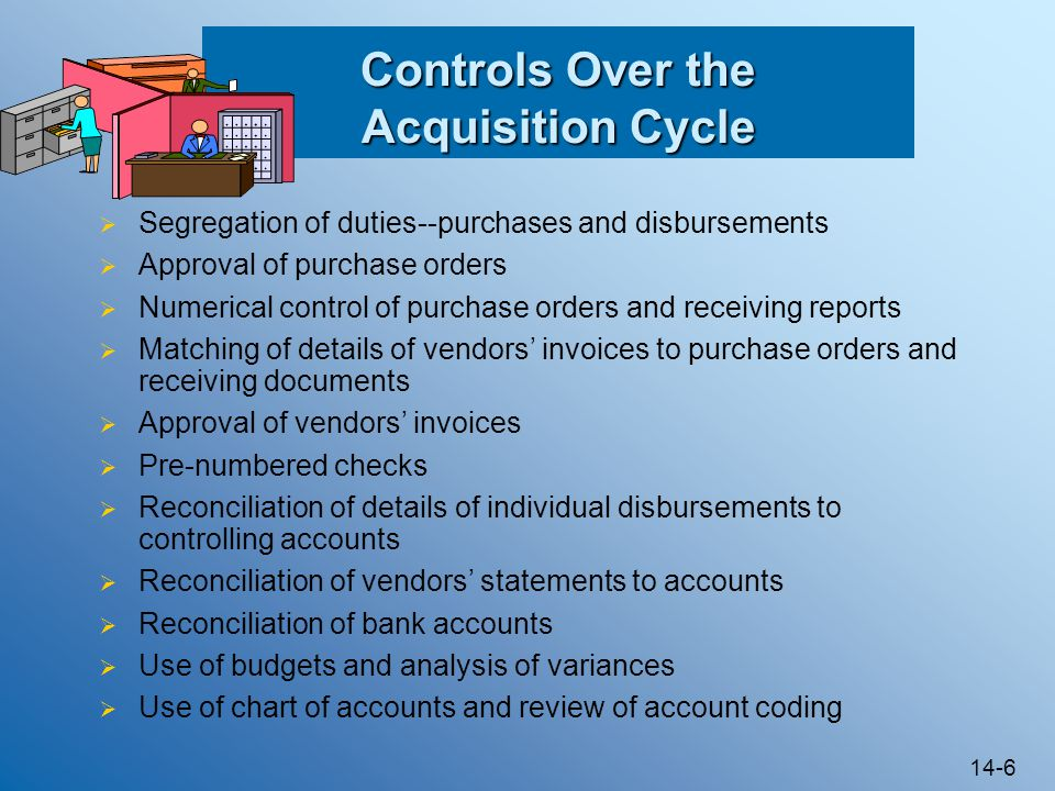 Controls Over the Acquisition Cycle
