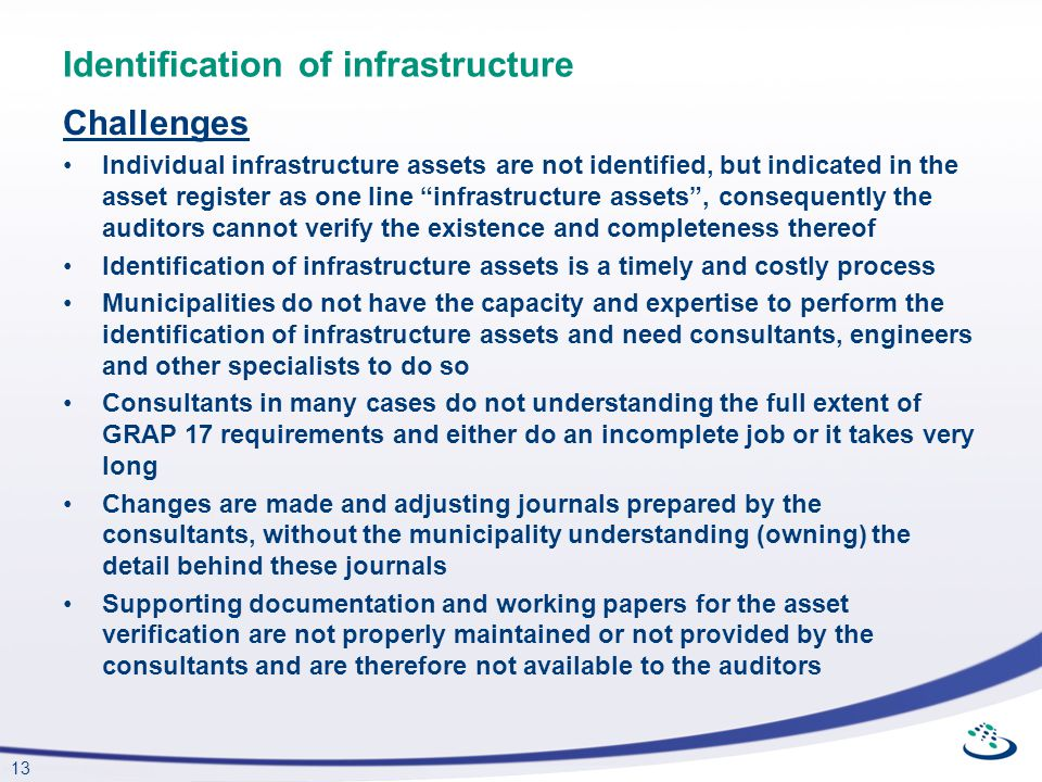 Identification of infrastructure