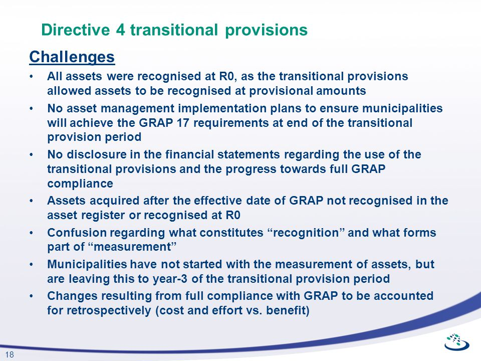 Directive 4 transitional provisions