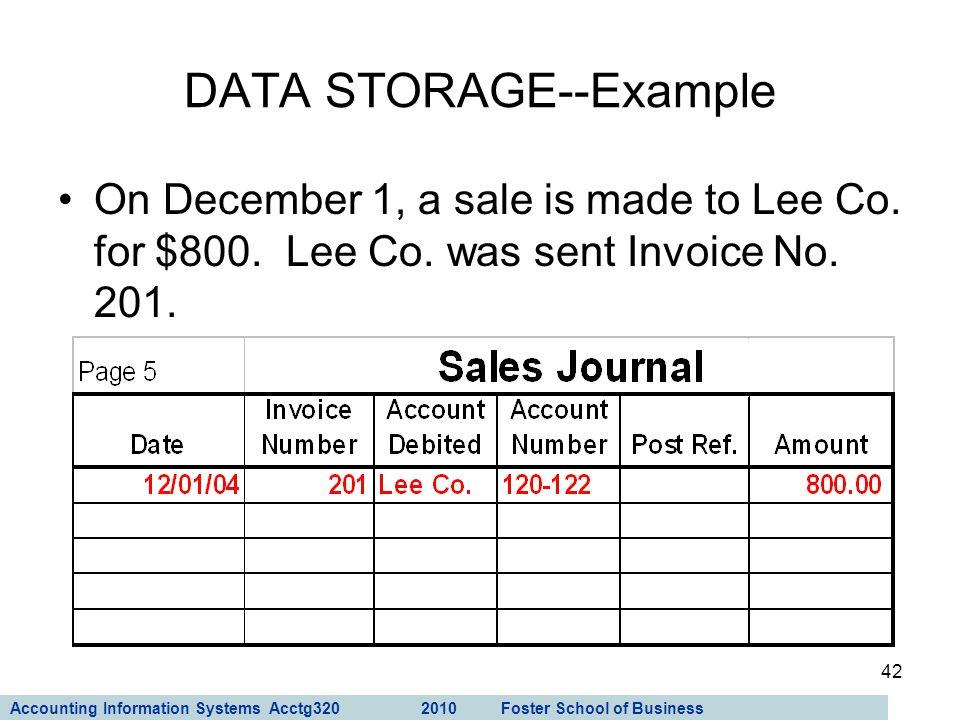 DATA STORAGE--Example