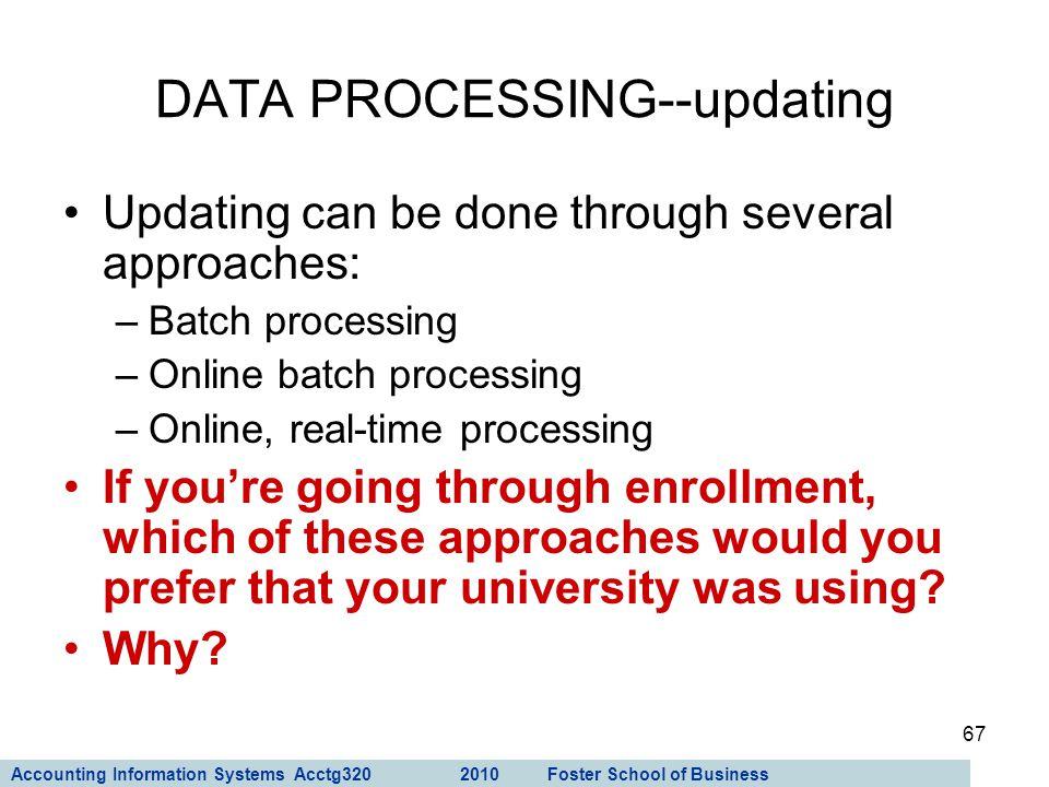 DATA PROCESSING--updating