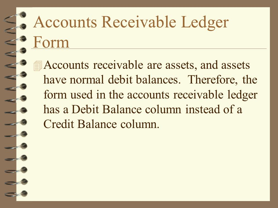 Accounts Receivable Ledger Form