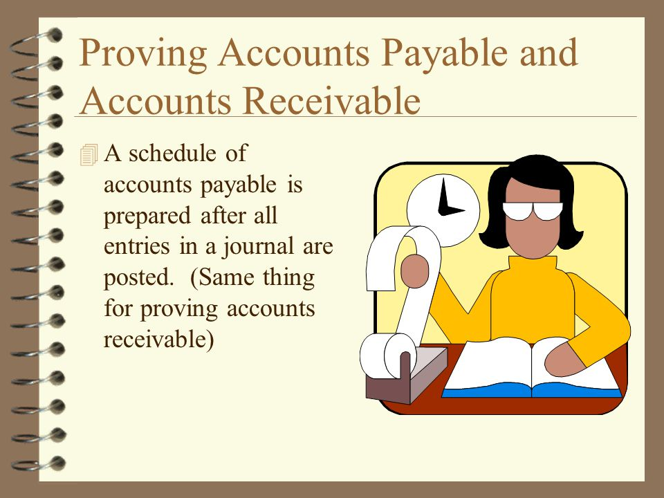 Proving Accounts Payable and Accounts Receivable
