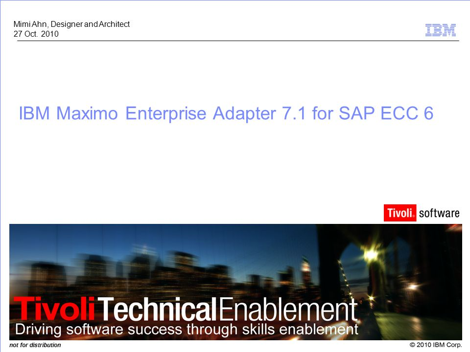 IBM Maximo Enterprise Adapter 7.1 for SAP ECC 6