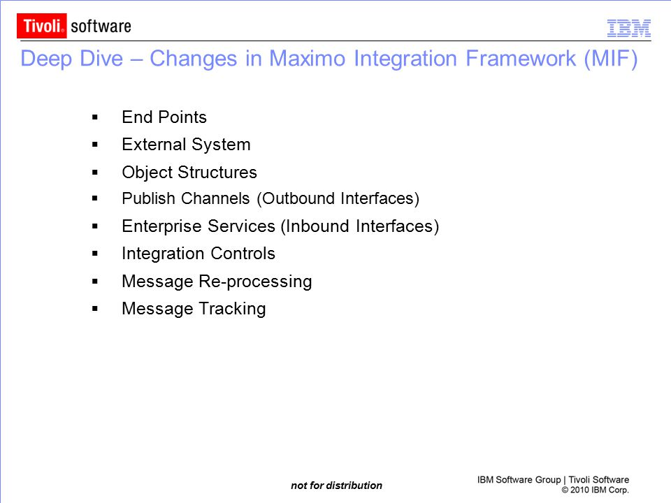 Deep Dive – Changes in Maximo Integration Framework (MIF)