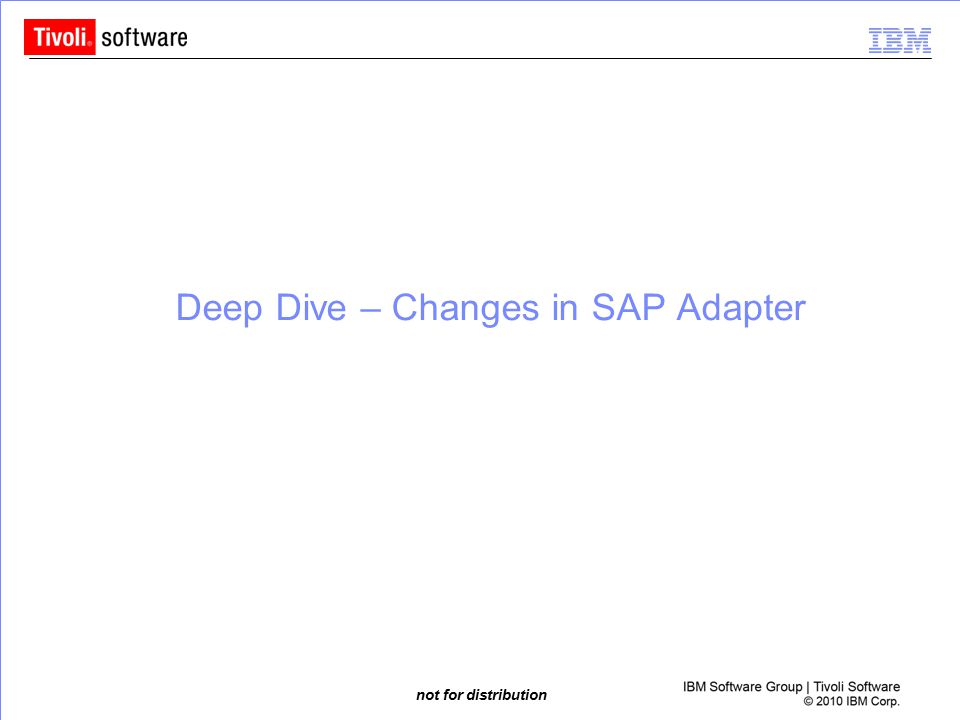 Deep Dive – Changes in SAP Adapter