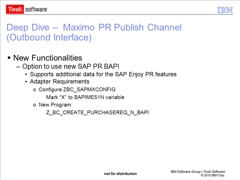 Deep Dive – Maximo PR Publish Channel (Outbound Interface)