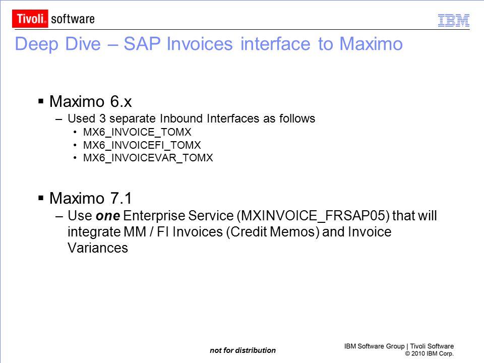 Deep Dive – SAP Invoices interface to Maximo