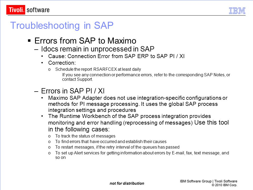 Troubleshooting in SAP