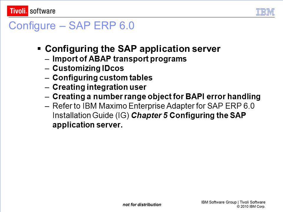 Configure – SAP ERP 6.0 Configuring the SAP application server