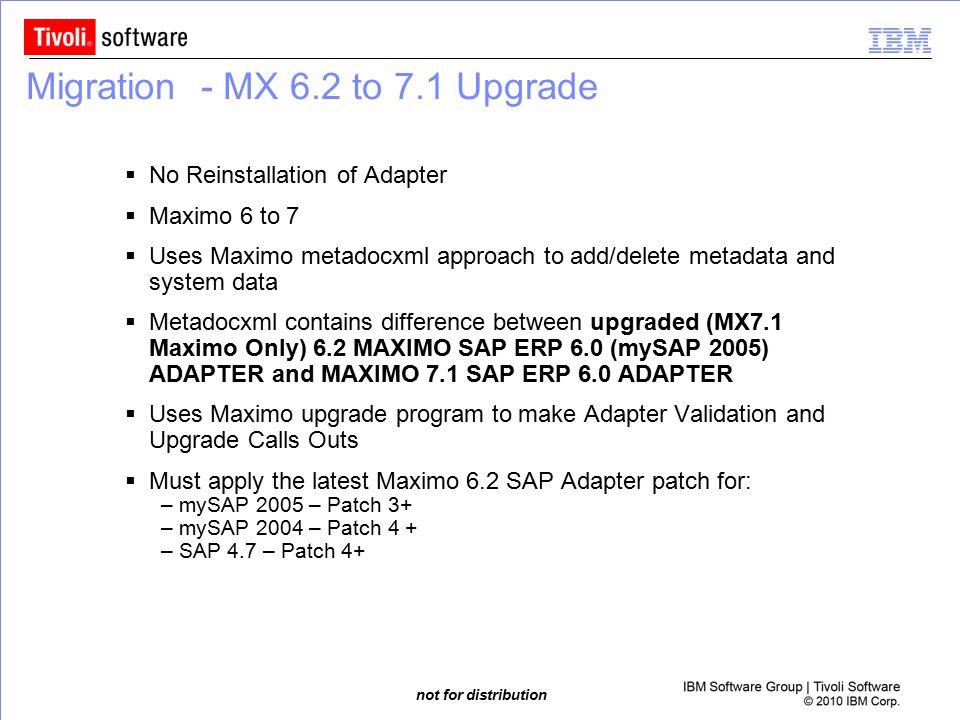 Migration - MX 6.2 to 7.1 Upgrade