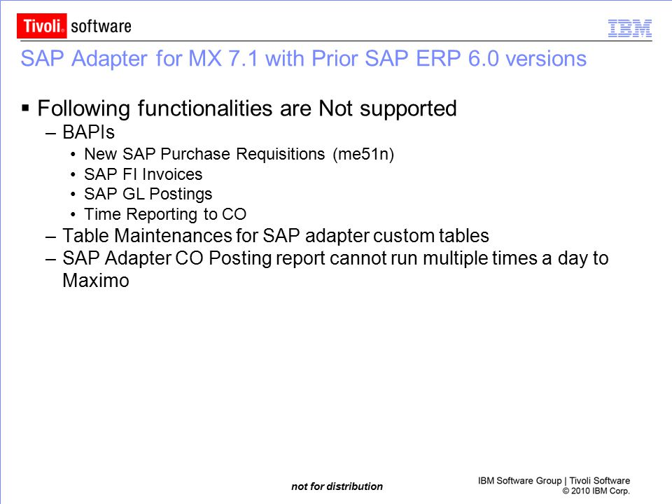 SAP Adapter for MX 7.1 with Prior SAP ERP 6.0 versions