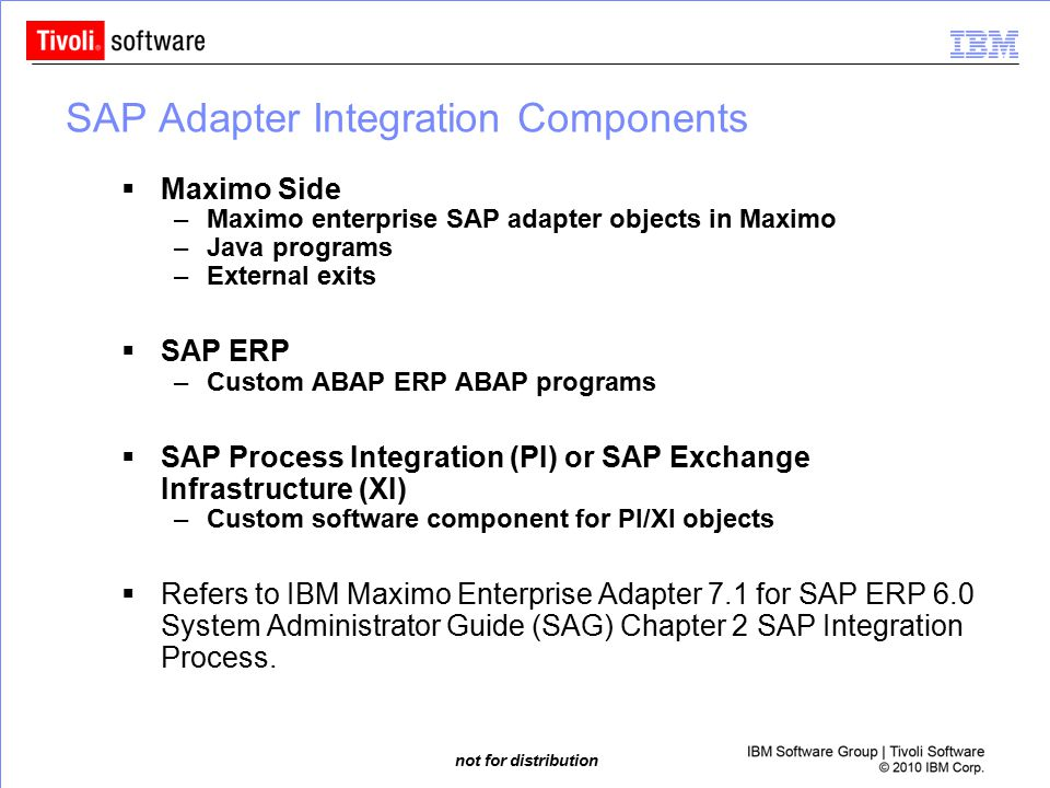 SAP Adapter Integration Components