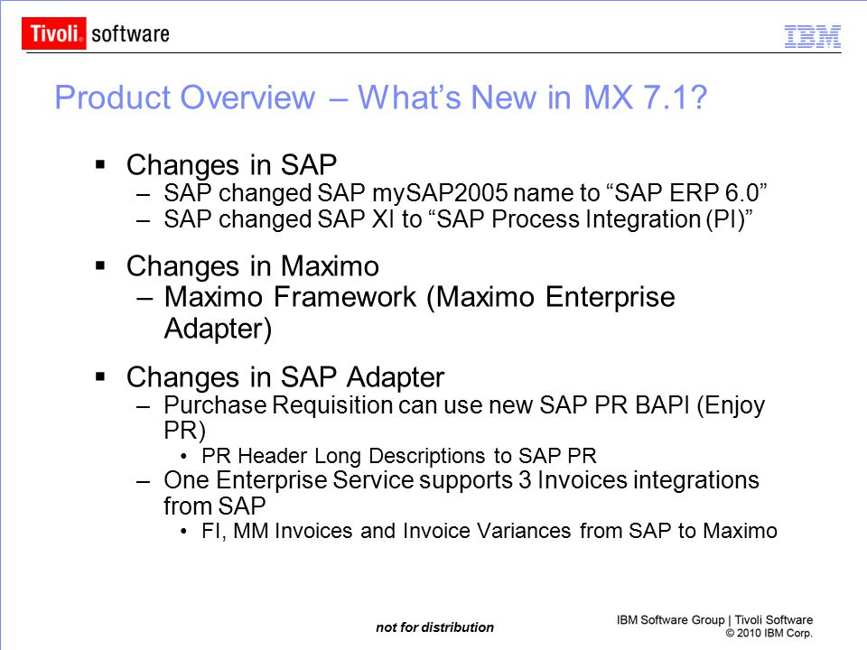 Product Overview – What's New in MX 7.1