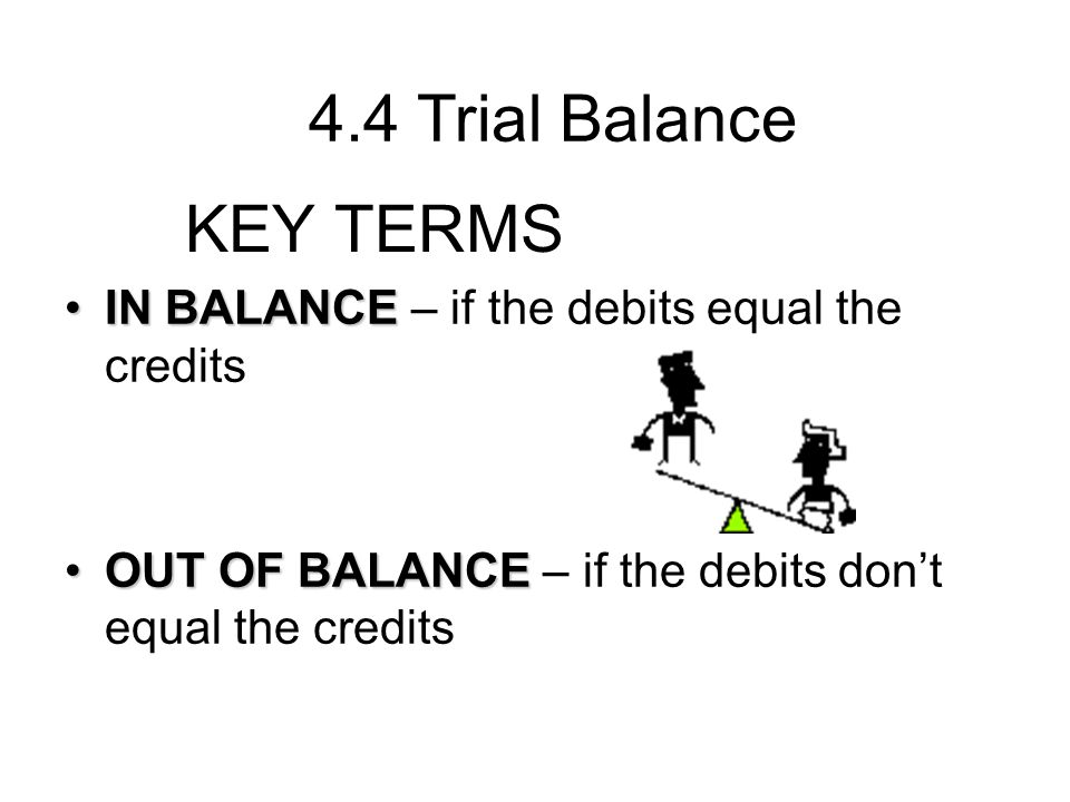 4.4 Trial Balance KEY TERMS